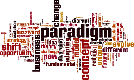 Paradigm word cloud concept. Vector illustration