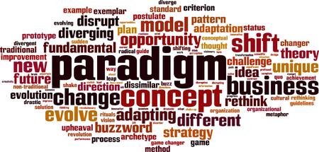 paradigm: Paradigm word cloud concept. Vector illustration