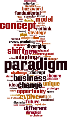 criterion: Paradigm word cloud concept. Vector illustration