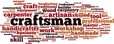 Craftsman word cloud concept. Vector illustration