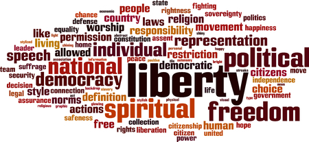 Liberty word cloud concept. Vector illustration