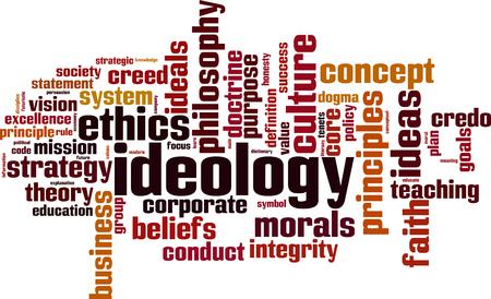 Ideology word cloud concept. Vector illustration Иллюстрация