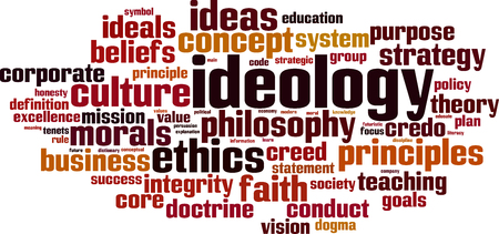 Ideology word cloud concept. Vector illustration Stok Fotoğraf - 78771558