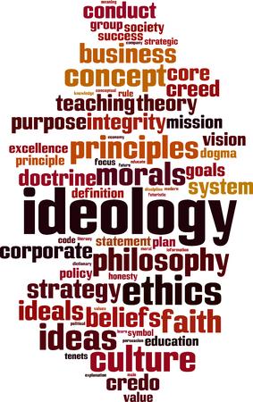 Ideology word cloud concept. Vector illustration Illustration