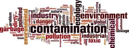 contamination: Contamination word cloud concept. Vector illustration