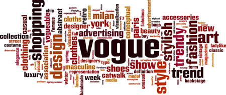 Vogue word cloud concept. Vector illustration