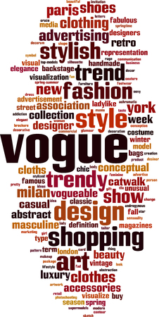 Vogue word cloud concept. Vector illustration Stock Vector - 78910041