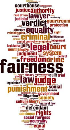 Fairness word cloud concept. Vector illustration Illustration