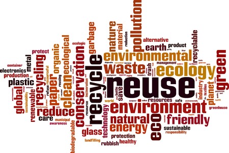 Reuse word cloud concept. Vector illustration