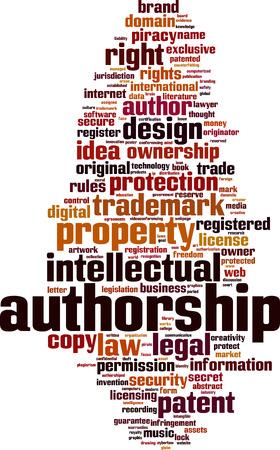 Autorship word cloud concept. Vector illustration Illustration