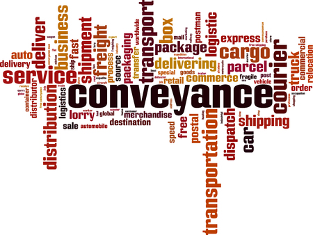 Conveyance word cloud concept. Vector illustration