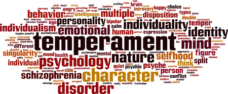 Temperament word cloud concept. Vector illustration Illustration