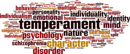 Temperament word cloud concept. Vector illustration Stock Illustratie