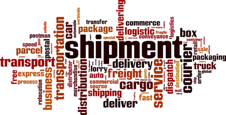 Shipment word cloud concept. Vector illustration