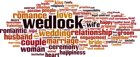 Wedlock word cloud concept. Vector illustration