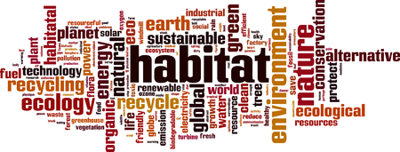 Habitat word cloud concept. Vector illustration
