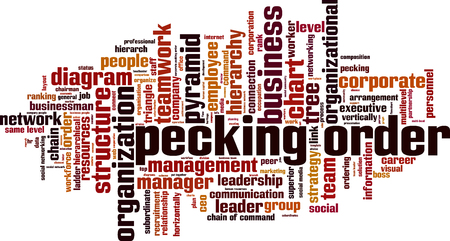 Pecking order word cloud