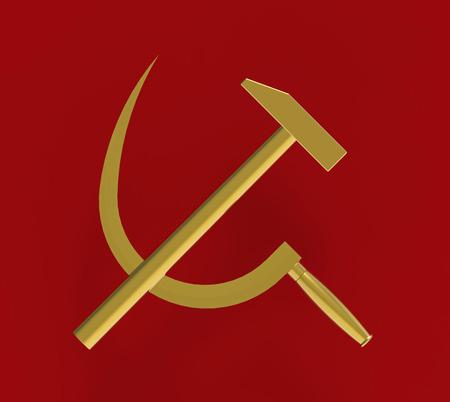 guadaña: Martillo y la hoz, comunista símbolo, 3d