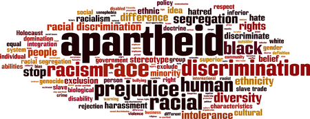 genocide: Apartheid word cloud concept. Vector illustration Illustration