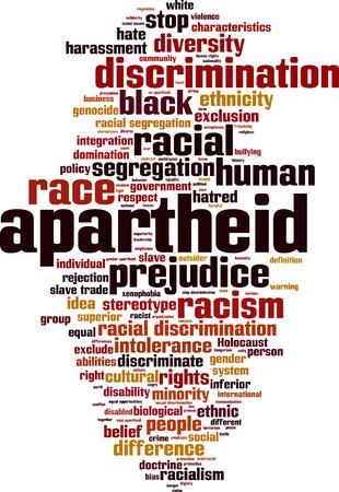 Apartheid word cloud concept. Vector illustration Stock Vector - 80022666