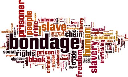 Concetto di parola di schiavitù concetto. illustrazione vettoriale Archivio Fotografico - 80022665