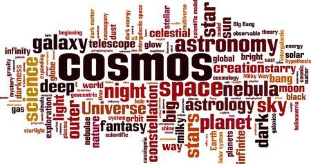 Cosmos word cloud concept. Vector illustration