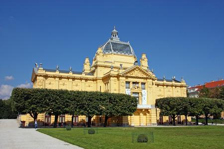 croatian: CROATIA ZAGREB � 25 SEPTEMBER 2016: Art Pavilion in Zagreb, Croatia, the Oldest Exhibition Hall on the Slavic South, Zagreb, Croatia