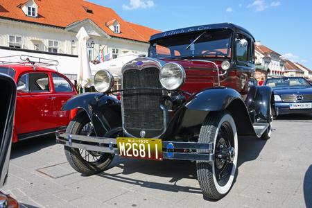 CROATIA SAMOBOR, 17 JULY 2011: Ford Model A Deluxe Tudor, 14. Oldtimer Rally in Samobor, Croatia