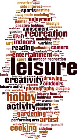 hobbyist: Leisure word cloud concept. Vector illustration