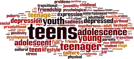 Teens word cloud concept. Vector illustration Ilustrace