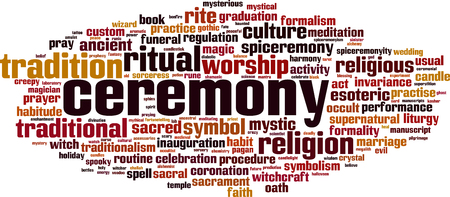 Ceremony word cloud concept. Vector illustration Illustration