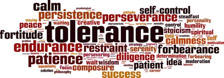 Tolerance word cloud concept. Vector illustration