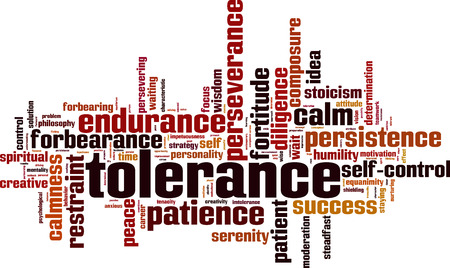 Tolerance word cloud concept. Vector illustration