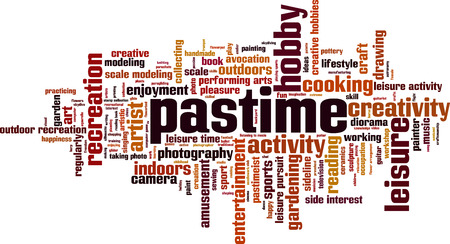 Pastime word cloud concept, Vector illustration Illustration
