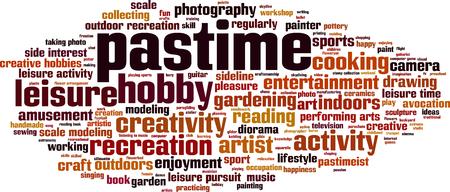 hobbyist: Pastime word cloud concept. Vector illustration Illustration