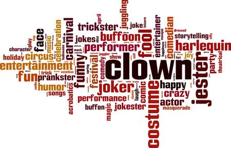 Clown word cloud concept. Vector illustration