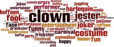 prankster: Clown word cloud concept. Vector illustration