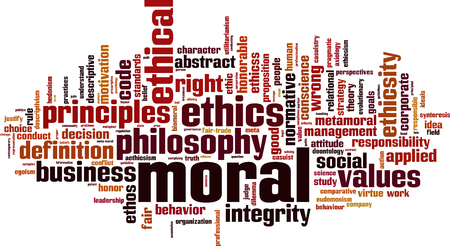 Moral word cloud concept. Vector illustration Vettoriali