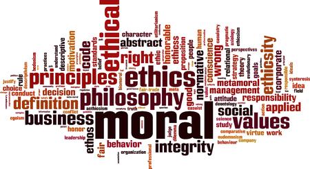 Koncepcja chmury moralnej słowo. Ilustracji wektorowych