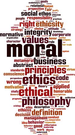 Concepto de la nube de la palabra moral. Ilustración del vector Ilustración de vector