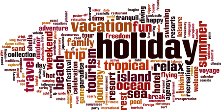 Holiday word cloud concept. Vector illustration