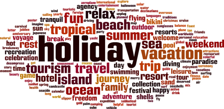 recess: Holiday word cloud concept. Vector illustration
