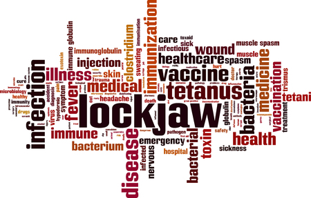 Lockjaw word cloud concept. Vector illustration Illustration