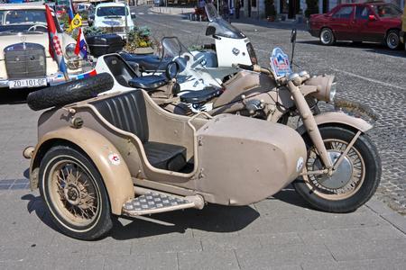 CROATIA SAMOBOR, 17 JULY 2011: Zundapp KS 750 1944 classic motorbike, 14. Oldtimer Rally in Samobor, Croatia Redakční