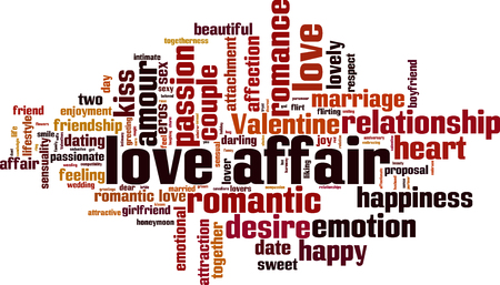 恋愛単語雲概念。ベクトル図 写真素材 - 83417698