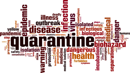 Quarantine word cloud concept. Vector illustration Illustration