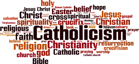 Catholicism word cloud concept