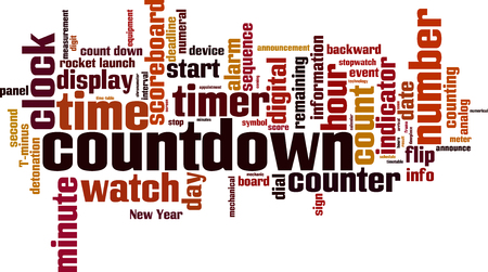 Countdown word cloud concept