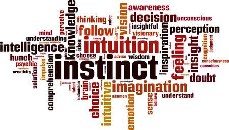 Instinct woord cloud concept. Vector illustratie