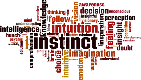 Instinct word cloud concept. Vector illustration Stock fotó - 83656841
